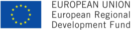 Logo European Regional Development Fund.
